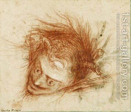 The head of a devil by Bravo Cecco (Francesco Montelatici) - Reproduction Oil Painting