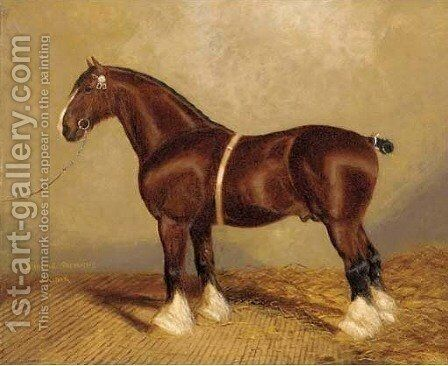 Bury Victor Chief a heavy horse by A. Clark - Reproduction Oil Painting