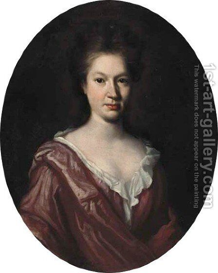 Portrait of Ann Grey (d.1755) by (attr.to) Closterman, Johann - Reproduction Oil Painting