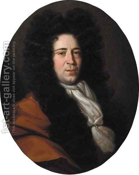 Portrait of William Grey (1659-1714) of Backworth by (attr.to) Closterman, Johann - Reproduction Oil Painting