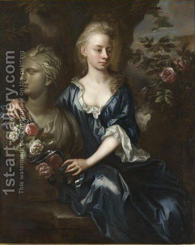 Portrait Of Isabella Willis (d. 1727) by Johann Closterman - Reproduction Oil Painting