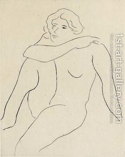 Nu assis, Bras droit reposant sur l'Epaule gauche by Henri Matisse - Reproduction Oil Painting