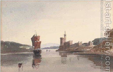Running in on the tide, Cork by Harriet Cheney - Reproduction Oil Painting