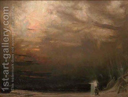 The end of the pilgrim by Albert Goodwin - Reproduction Oil Painting