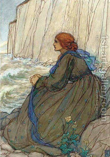Illustration for Tennyson's Guinevere 2 by Emma Florence Harrison - Reproduction Oil Painting