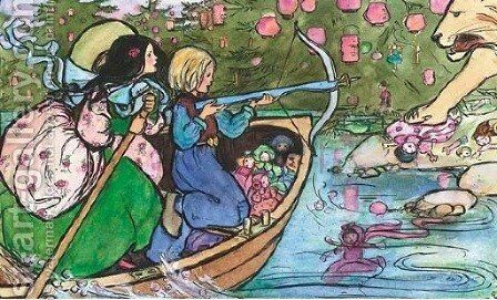Illustration of The Run by Emma Florence Harrison - Reproduction Oil Painting