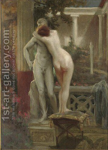 Hermes and Aphrodite 2 by Jan Styka - Reproduction Oil Painting