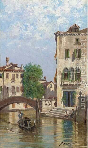 The Old Palace, Venice by Antoinetta Brandeis - Reproduction Oil Painting