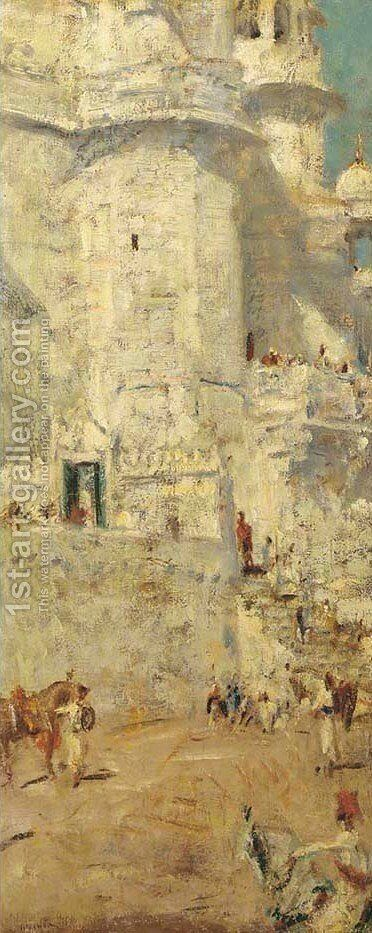 Indisch Paleis 2 by Marius Bauer - Reproduction Oil Painting