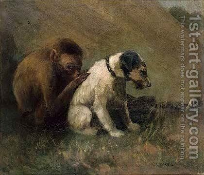 Best of friends by Cuthbert Edmund Swan - Reproduction Oil Painting