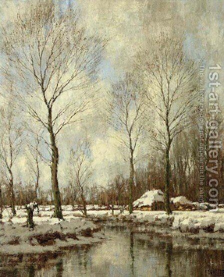 Winter by Arnold Marc Gorter - Reproduction Oil Painting