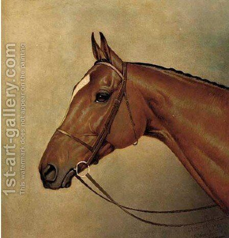 The Derby winner Lemburg by Alfred Wheeler - Reproduction Oil Painting