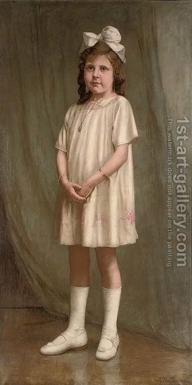 Portrait of a young girl by Jan de Wit - Reproduction Oil Painting