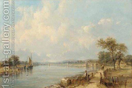 Sandown Bay by Alfred Vickers - Reproduction Oil Painting