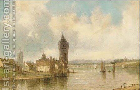 On the Thames by Alfred Vickers - Reproduction Oil Painting
