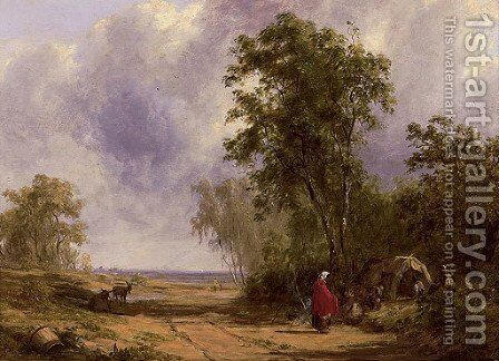 The gypsy encampment by Alfred Vickers - Reproduction Oil Painting