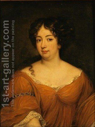 Ritratto Di Maria Anna Mancini by Jacob Ferdinand Voet - Reproduction Oil Painting