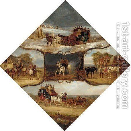 The four seasons, Autumn and Winter by Charles Waller Shayer - Reproduction Oil Painting