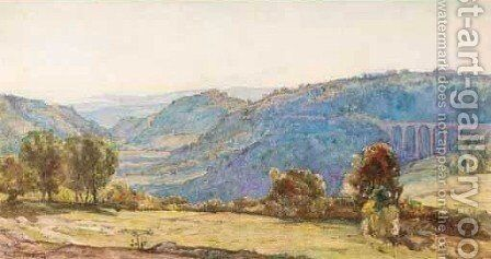 Watercolour Of Greek View 2 by Herbert Hughes Stanton - Reproduction Oil Painting