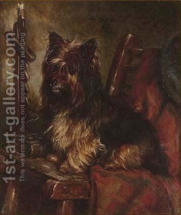 Sitting on the master's chair by David George Steell - Reproduction Oil Painting