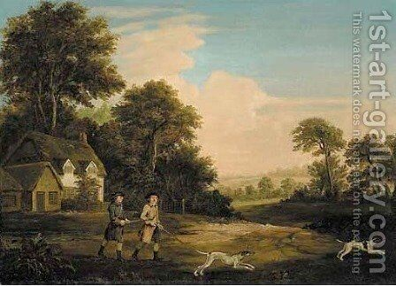 Two gentlemen going a shooting by (after) Stubbs, George - Reproduction Oil Painting