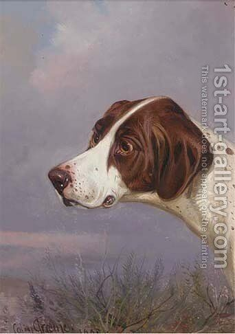 A pointer in a landscape by Colin Graeme Roe - Reproduction Oil Painting