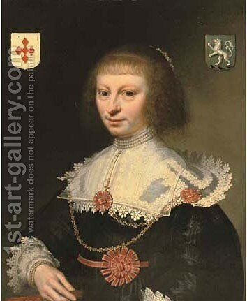 Portrait of a lady by Anthony van Ravesteyn - Reproduction Oil Painting