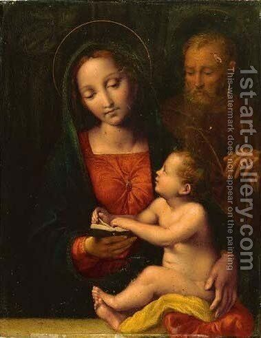 The Holy Family 3 by (after) Raphael (Raffaello Sanzio of Urbino) - Reproduction Oil Painting