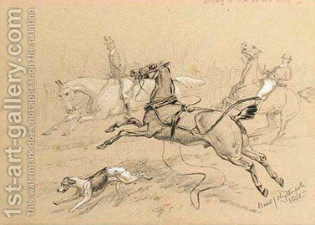 Hunting incident 2 by Basil J. Nightingale - Reproduction Oil Painting