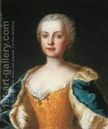 Portrait of the daughters of the Empress Maria Theresa of Austria, Maria Anna (1738-1789) by Martin II Mytens or Meytens - Reproduction Oil Painting