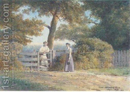 Entrance to Barford Park by Clifford Henry Mecham - Reproduction Oil Painting