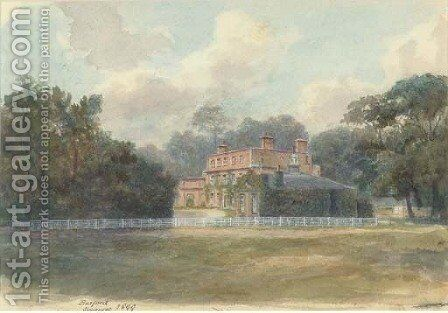 Barford House, Somerset by Clifford Henry Mecham - Reproduction Oil Painting