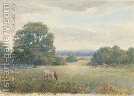 Cattle grazing at Barford Park by Clifford Henry Mecham - Reproduction Oil Painting