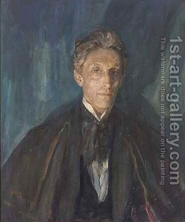 Portrait of Sir Johnston Forbes-Robertson (1853-1937), bust-length, in evening dress by Ambrose McEvoy - Reproduction Oil Painting