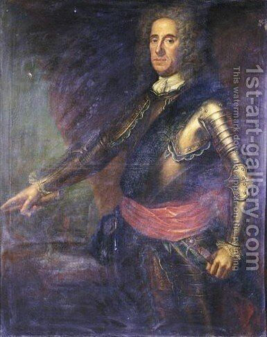 Portrait Von Lord George Hamilton, Earl Of Orkney (1666-1737) by Martin Maingaud - Reproduction Oil Painting