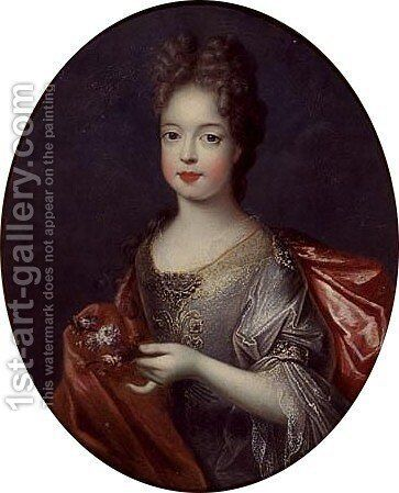 Portrait of a child by (after) Loo, Carle van - Reproduction Oil Painting