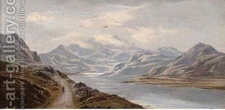 Highland loch landscape by Charles Leslie - Reproduction Oil Painting