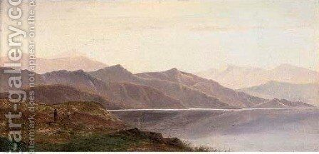 Highland loch landscape 2 by Charles Leslie - Reproduction Oil Painting