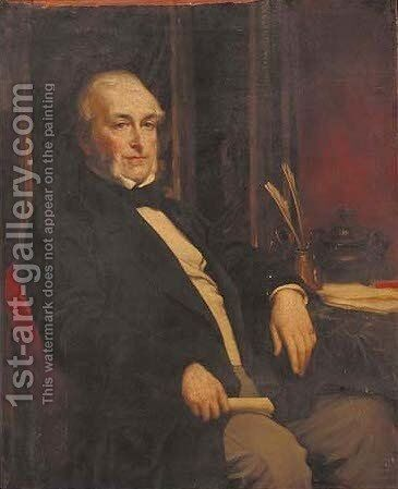 Portrait of William Keppel, 6th Viscount Barrington by (attr. to) Leighton, Frederic - Reproduction Oil Painting