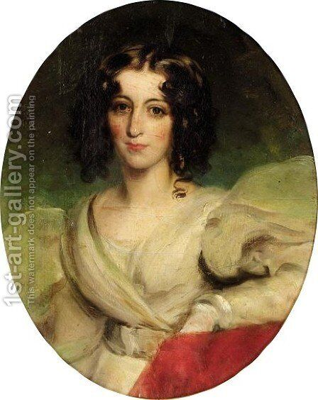 Portrait Of Lady Musgrave by (after) Lawrence, Sir Thomas - Reproduction Oil Painting