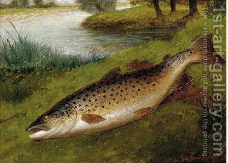 A grayling by A. Roland Knight - Reproduction Oil Painting