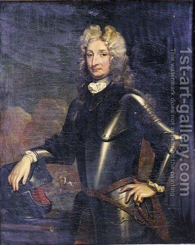Portrait Of A Nobleman, Said To Be John Churchill, 1st Duke Of Marlborough by (after) Kneller, Sir Godfrey - Reproduction Oil Painting