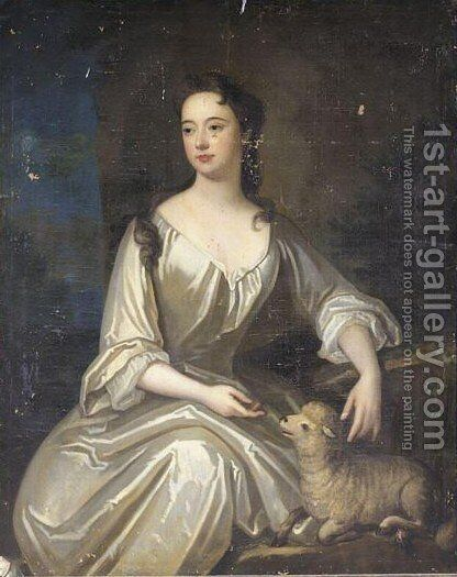 Portrait Of A Lady 2 by (after) Kneller, Sir Godfrey - Reproduction Oil Painting