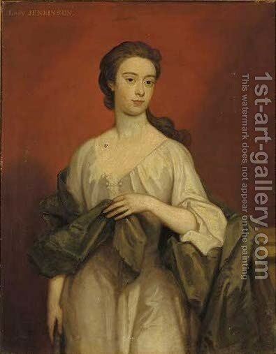 Portrait of Lady Jenkinson by (after) Kneller, Sir Godfrey - Reproduction Oil Painting