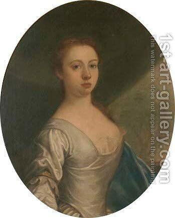 Portrait of Mrs John Offley by (after) Kneller, Sir Godfrey - Reproduction Oil Painting