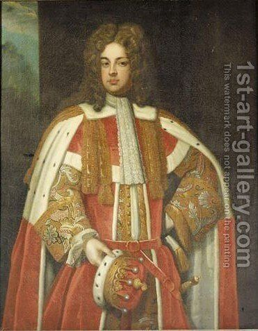 Portrait Of Charles Howard, 3rd Earl Of Carlisle (1669-1738) by (after) Kneller, Sir Godfrey - Reproduction Oil Painting