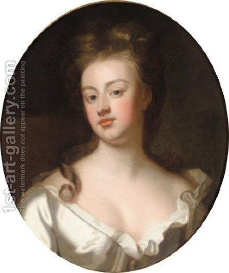 Portrait Of Sarah, Duchess Of Marlborough by (after) Kneller, Sir Godfrey - Reproduction Oil Painting