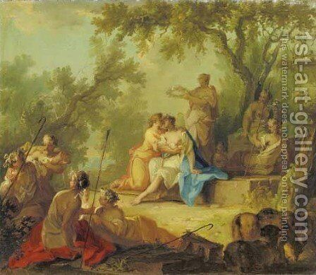 The crowning of Mirtillo by Johann-Heinrich Keller - Reproduction Oil Painting