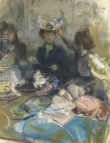 Hoedenatelier by Isaac Israels - Reproduction Oil Painting