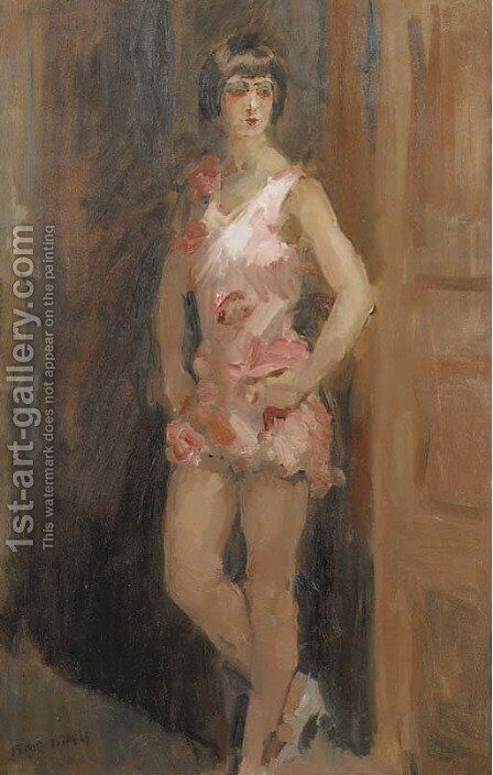 Dancing girl by Isaac Israels - Reproduction Oil Painting